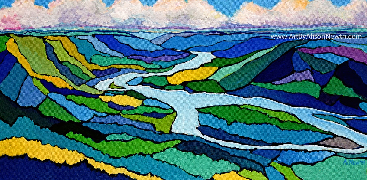 peace river valley painting, site c dam